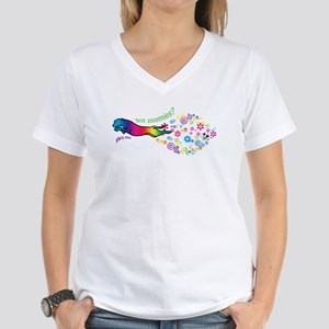 got zoomies? Women's V-Neck T-Shirt